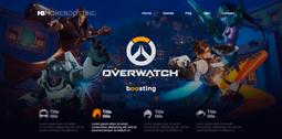 Разработка сайта для европейской компании по бустингу игровых аккаунтов.