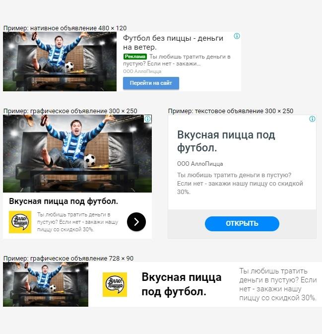 Рекламные кампании в РСЯ и КМС